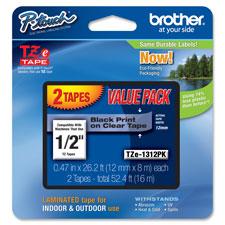 Brother 1/2' Laminated TZ Tape Cartridge