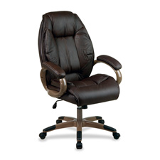 Office Star Exec. Top Grain Lthr High-back Chair