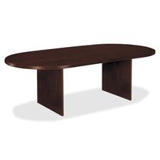 Basyx Veneer Oval Conf. Tabletops w/ Slab Base