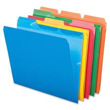 Esselte Colored Ready-Tab 3-Position File Folders