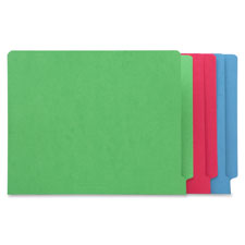 Sparco Colored 2-ply End Tab Fastener Folders