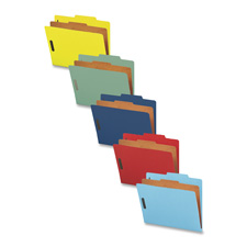 Nature Saver 1-Dvdr Colored Classification Folders