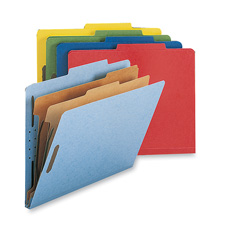 Nature Saver 2-Dvdr Letter Classification Folders