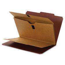 Smead Top Tab Classification Folders w/Wallet Dvdr