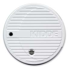 Smoke alarm, flashing led, w/ 9v battery, white, sold as 1 each