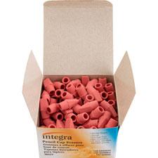 Pencil cap erasers, f/ standard pencils, 144/bx, pink, sold as 1 box