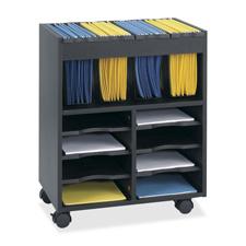 Safco Innovative Mobile File Cart w/ Storage