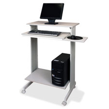 "Stand-up workstation, casters, 29-1/2""x19-5/8""x44-1/4"", gy, sold as 1 each"