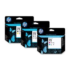 HP No. 72 Matte Black and Yellow Printhead - Inkjet - Matte Black Yellow