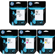 HP 72 Vivera Cyan Ink Cartridge - Inkjet - Cyan