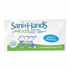 Unimed Individual Gel Sani-Hands Kids Wipe Packets