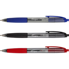 Integra Rubber Grip Retractable Pens