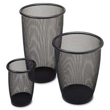 Safco Round Mesh Wastebaskets