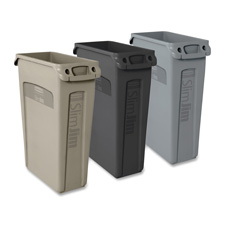 Rubbermaid Slim Jim Waste Containers w/Vents Chnls