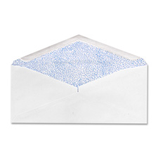 "Commercial envelopes,security tint,4-1/8""x9-1/2"",500/bx,we, sold as 1 box"