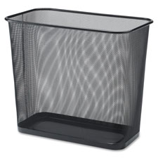 "Rectangular waist bin,steel mesh,7.9 gal.,17""x15"",black, sold as 1 each"