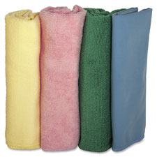 "Microfiber cleaning cloths,lint-free,16""x16"",4/pk,assorted, sold as 1 package, 12 each per package"
