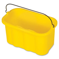 "Sanitizing caddy, 10 quart, 14""x7-1/2""x8"", yellow, sold as 1 each"