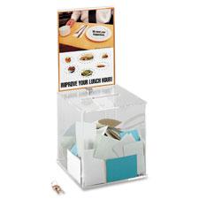 Safco Acrylic Collection Box w/ keys