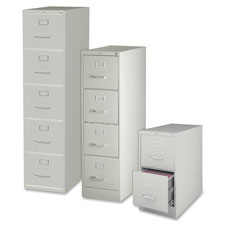 "Vertical file, 5-drawer, ltr, 15""x26-1/2""x61-3/8"", lt gray, sold as 1 each"