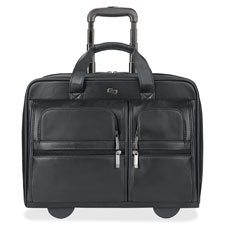 US Luggage Leather Laptop Rolling Case