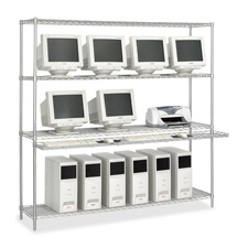 Safco Wire LAN Management System Stand