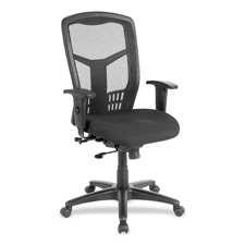 "Exec high-back swivel chair, 28-1/2""x28-1/2""x45"", black, sold as 1 each"