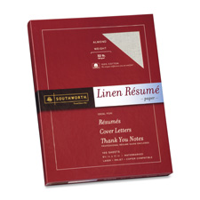"Resume paper, linen, 32 lb, 8-1/2""x11"", 100/bx, gray, sold as 1 box"