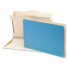 "SMEAD MANUFACTURING CO Classification Folder,2""Exp,1 Divider,14-3/4""x10"",10/BX,Blue at Sears.com"