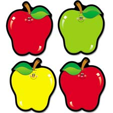 "Apple cut-outs, 4-1/2""x5-1/2"", 36 pieces red/yellow/green, sold as 1 set"
