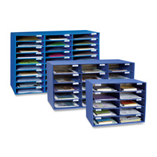 "Mail box, 30 slots, 12-1/2""x10""x1-3/4"", blue, sold as 1 each"