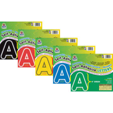 """Self-adhesive letters, 4"""", 78 characters, black, sold as 1 package, 100 each per package"""