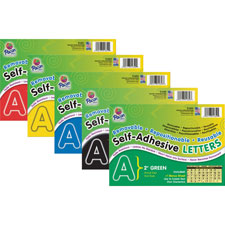 "Self-adhesive letters, 2"", 159 characters, black, sold as 1 package, 100 each per package"