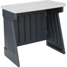 "Iceberg SnapEase Computer Desk - Rectangle - Drawer - 24.5"" x 42"" x 30"" - Resinite - Charcoal"