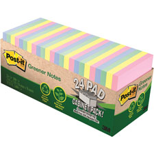 3M Post-it Notes 100% Recy. Assorted Cabinet Pack
