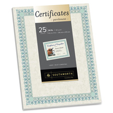 Southworth Pre-printed Ivory Certificates w/CD