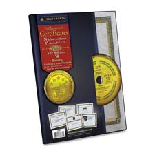 Southworth Foil-Enhanced Blu/Gld Parch. Cert. w/CD