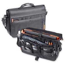 Samsill Orange Accent Messenger Bag