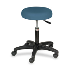 "Exam stool,pneumatic,250 lb,15""x15""x20-1/2""-26-1/2"",slate be, sold as 1 each"
