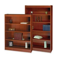 Safco Cherry Square Edge Veneer Bookcases