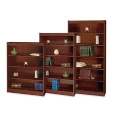 Safco Mahogany Square Edge Veneer Bookcases