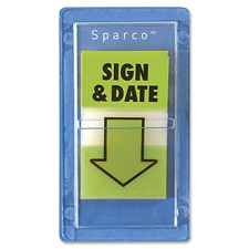 "Sign and datepop-up flags, 1""x1-3/4"", 100/pk, green, sold as 1 package"