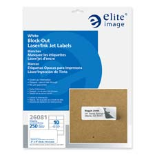 """Block-out labels,shipping,permanent,8-1/2""""x11"""",25/pk,white, sold as 1 package, 750 each per package"""