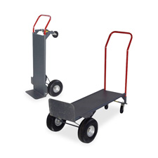 "Convertible hand truck, w/deck, 800 lb cap., 21""x18""x47"", gy, sold as 1 each"