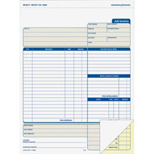 "Job invoice forms,2-part,corbels,100 st./bk,8-1/2""x11-7/16, sold as 1 each"