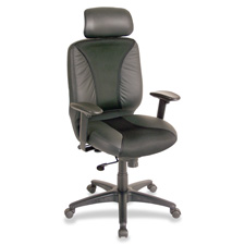Lorell Executive Mesh and Leather High-Back Chair