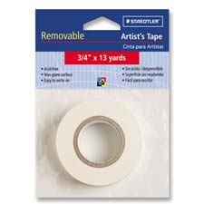 "Artist's tape, nonglare, removable, 3/4""x13 yards, white, sold as 1 roll"