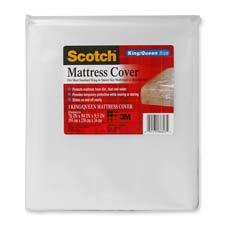 "King/queen mattress cover, 76""x94""x9-1/2"", clear, sold as 1 each"