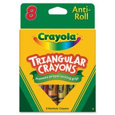 Crayola Anti-roll Triangular Crayons