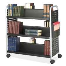 Safco Scoot Double-Sided Book Cart